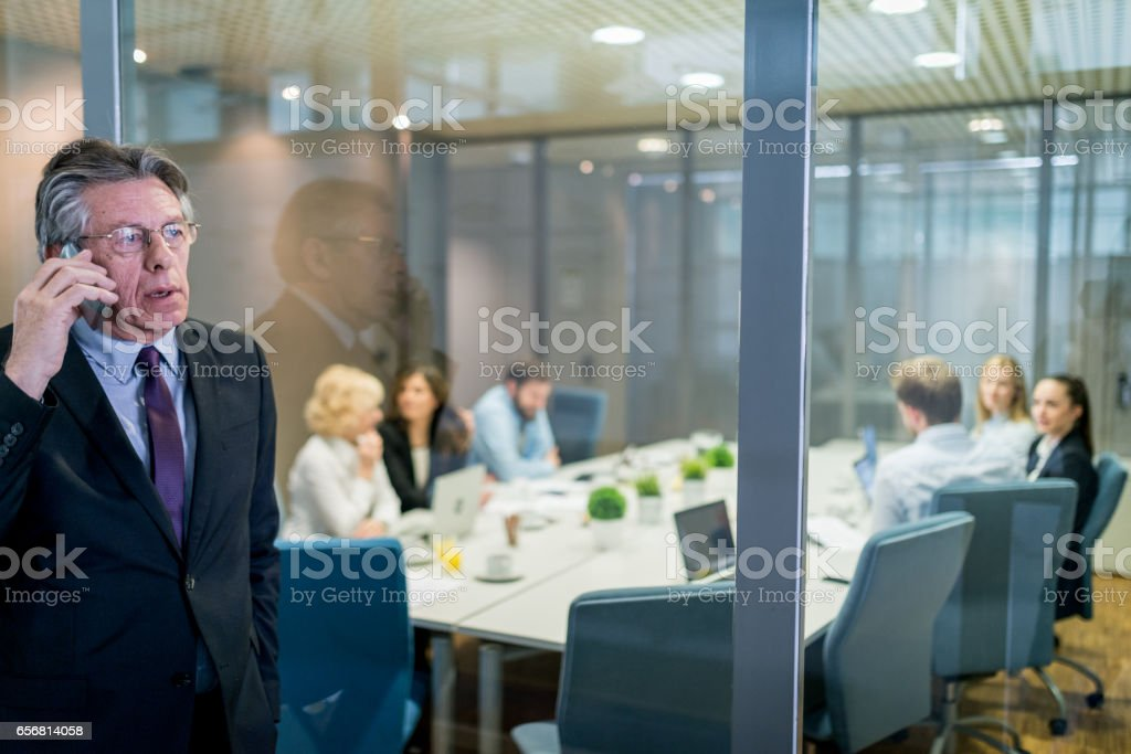Business meeting in conference room. stock photo