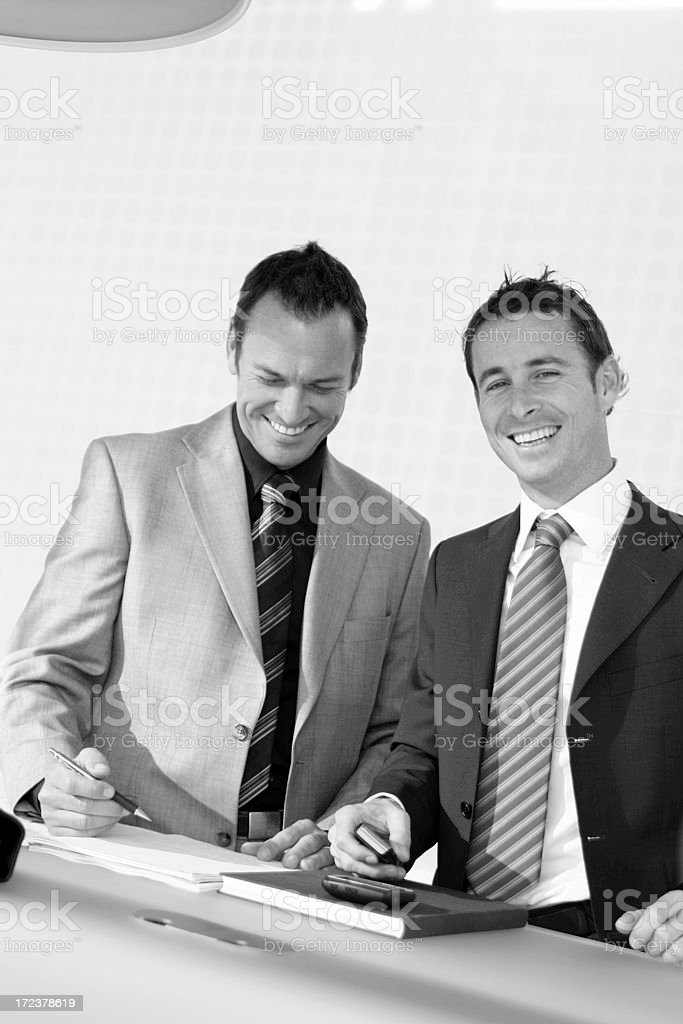 Business Meeting in lounge royalty-free stock photo