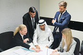 Business meeting in Middle East