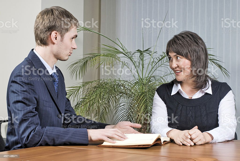 Business meeting in office royalty-free stock photo