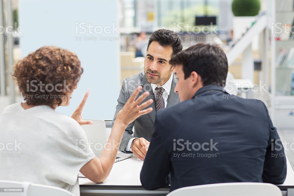 Business meeting in the airport stock photo