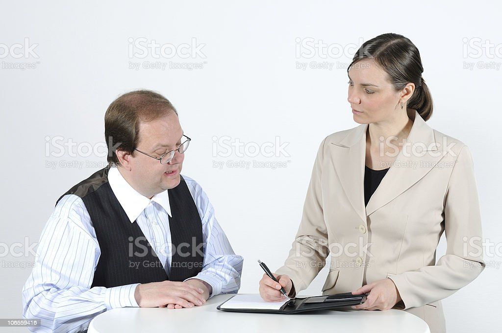 Business Meeting Listen to your Partner royalty-free stock photo