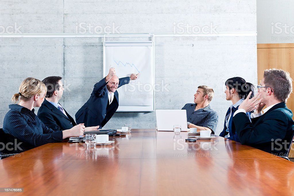 Business Meeting - Manager Freaking Out stock photo