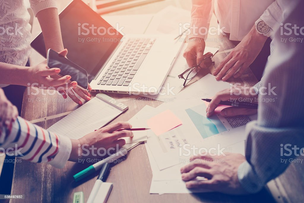 Business meeting. Marketing strategy stock photo