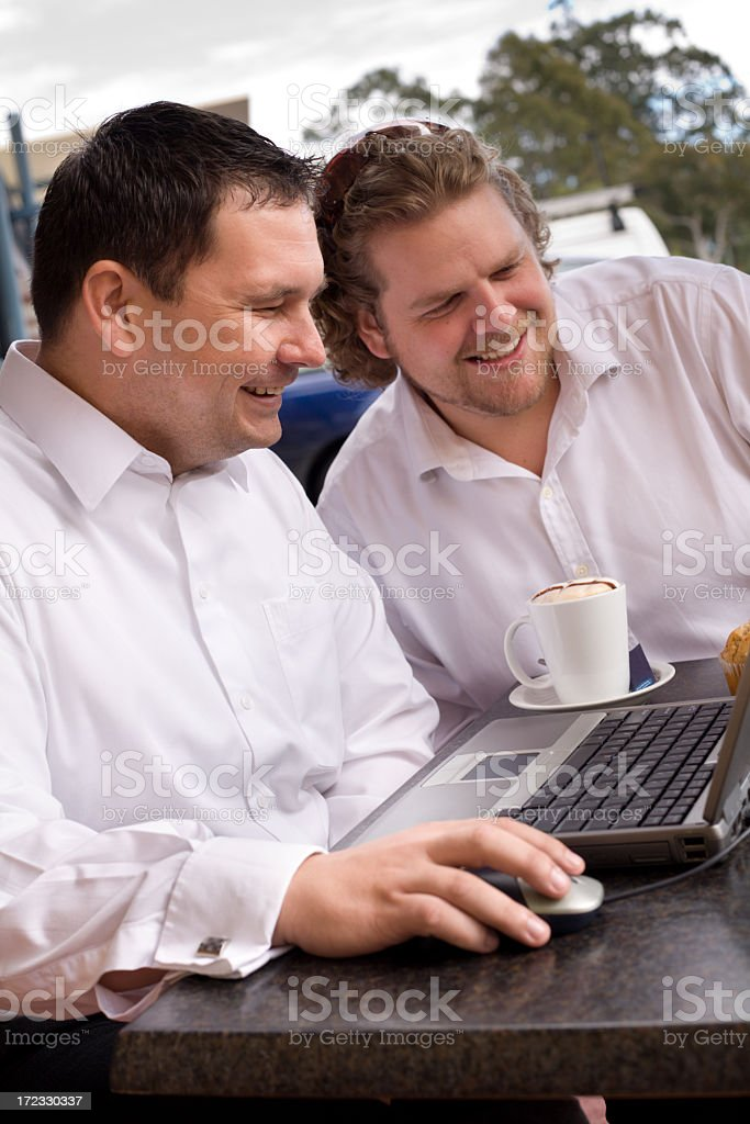 Business Meeting Over Coffee royalty-free stock photo