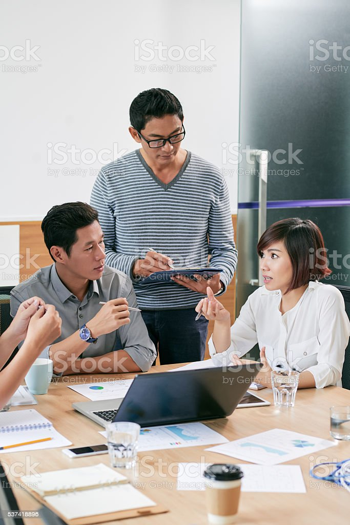Business meeting stock photo