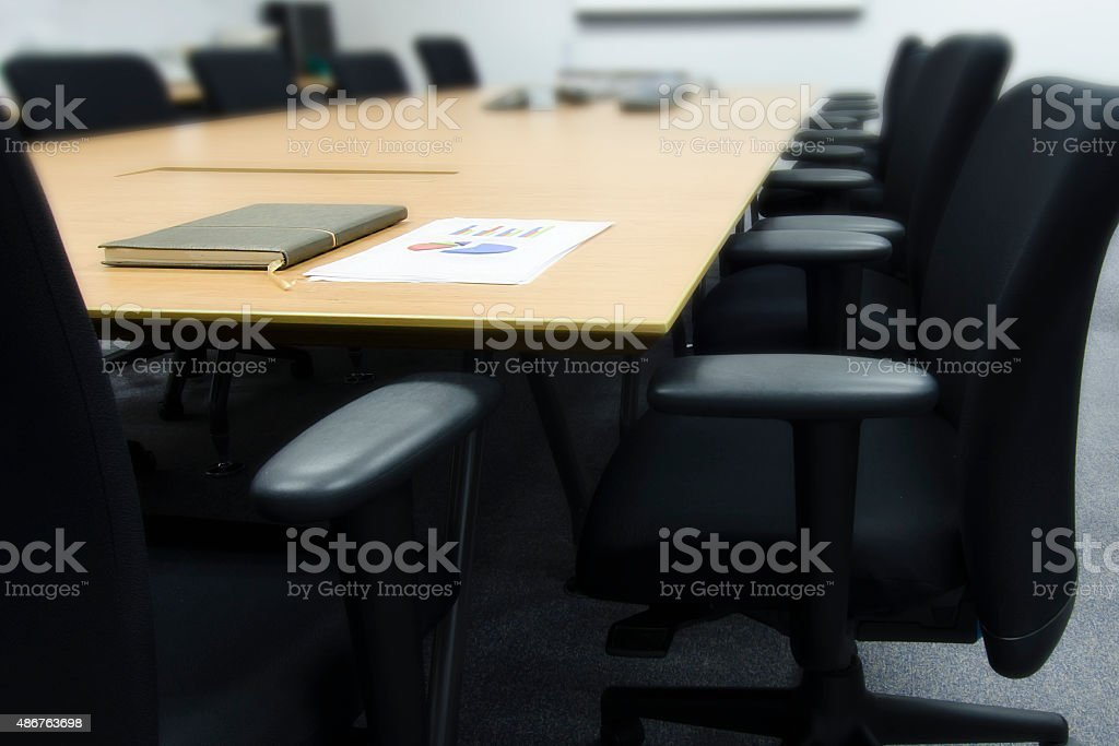 Business meeting room stock photo