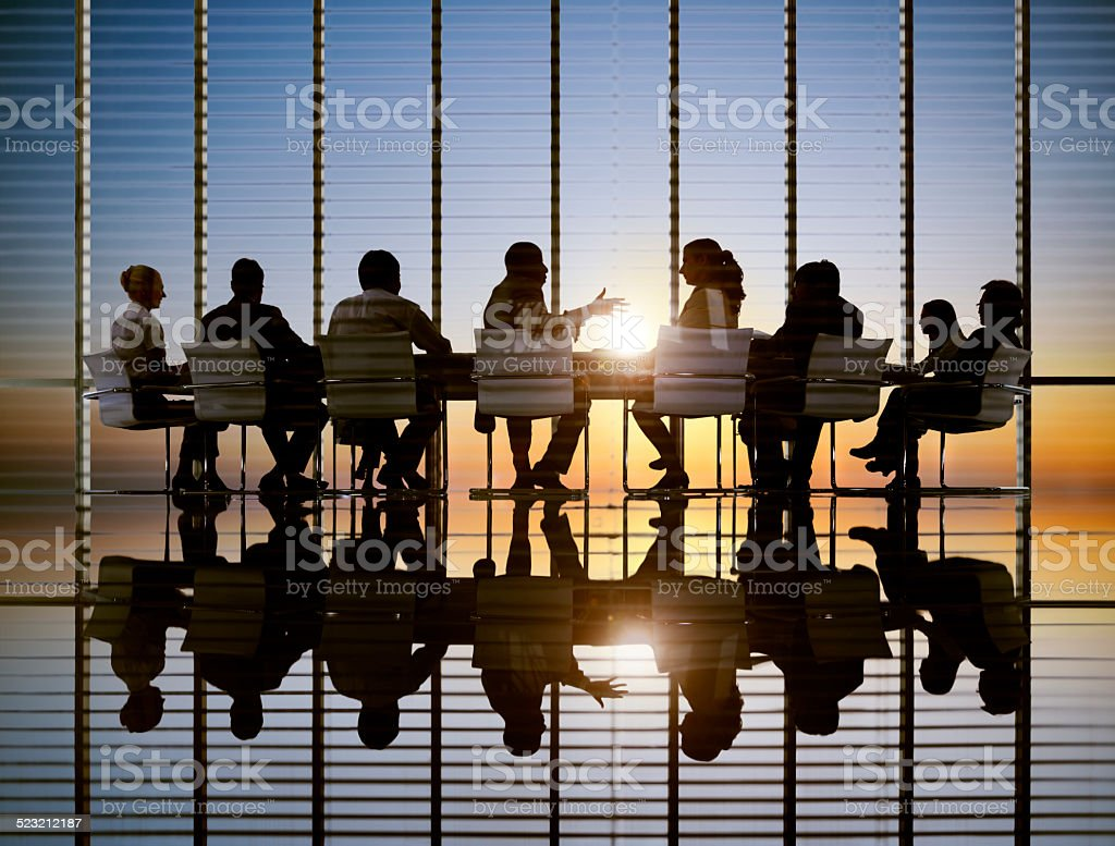Business Meeting Sun Professional Strategy Concept stock photo