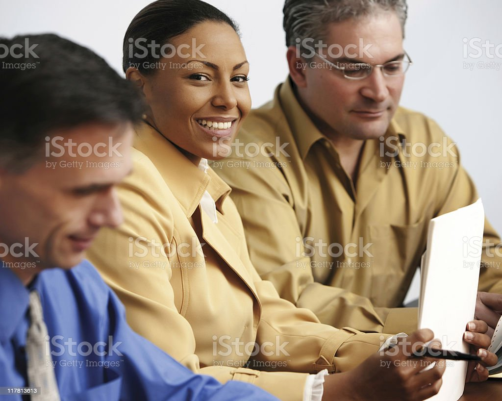Business Meeting with Consultant and Businessmen stock photo