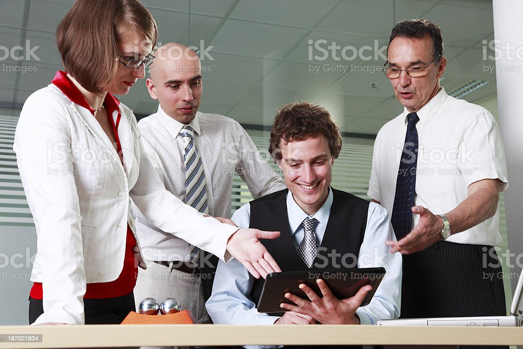 Business meeting with digital tablet royalty-free stock photo