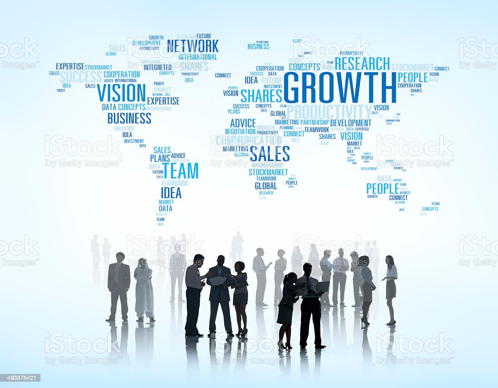 Business Meeting With Infographic stock photo