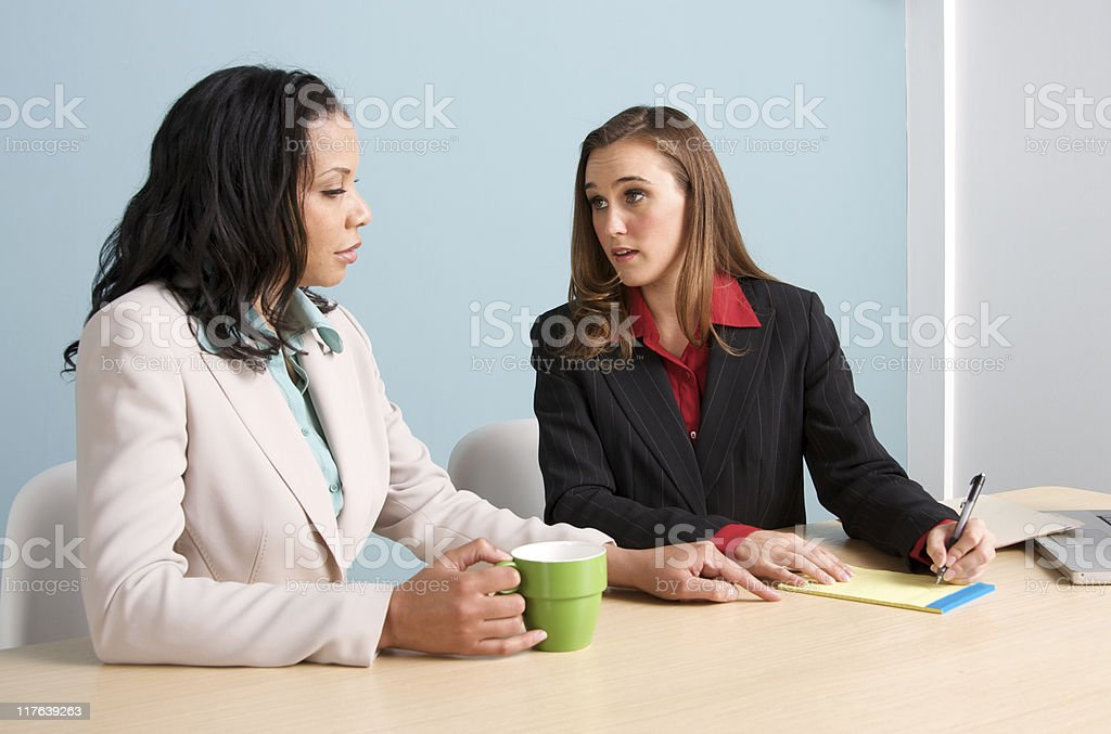 Business Meeting with Two Professional  Diverse Women royalty-free stock photo