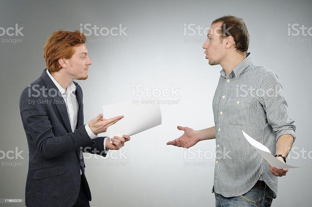 business men arguing stock photo