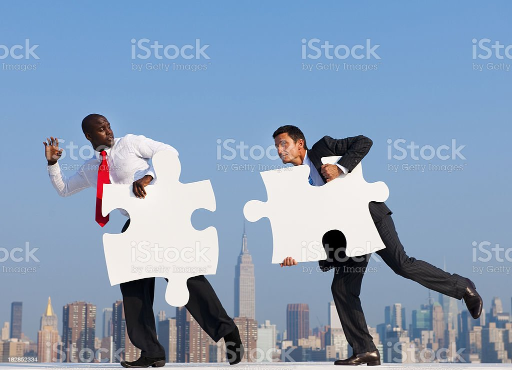 Business men conecting in the city royalty-free stock photo