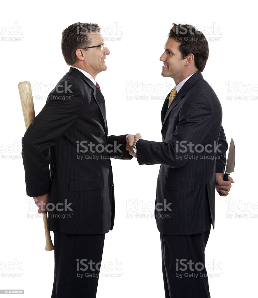 Business Men Crooked Deal royalty-free stock photo