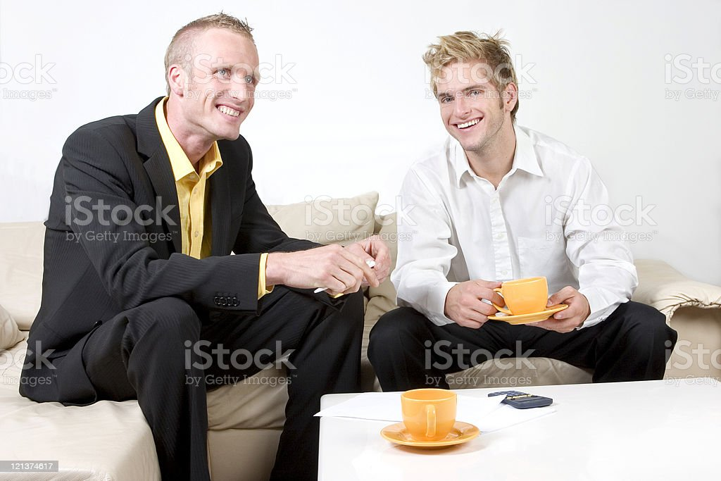 Business men discussing royalty-free stock photo