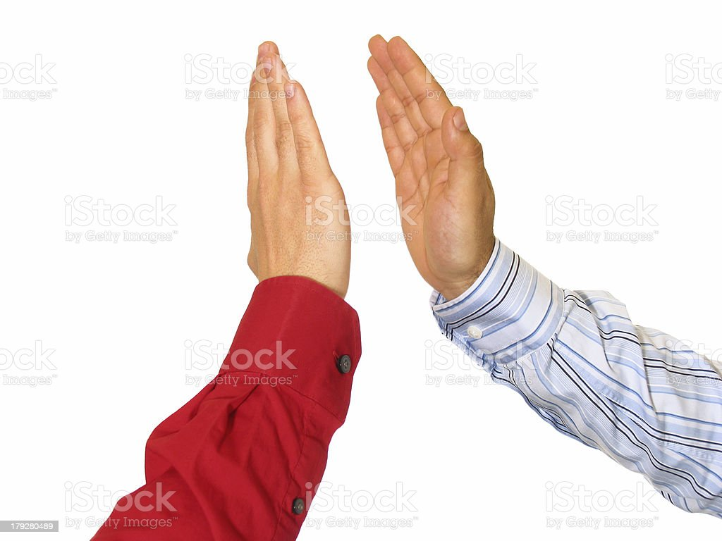 Business Men Giving High Five stock photo