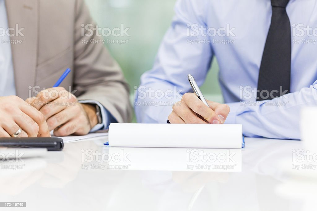 Business men on a meeting royalty-free stock photo