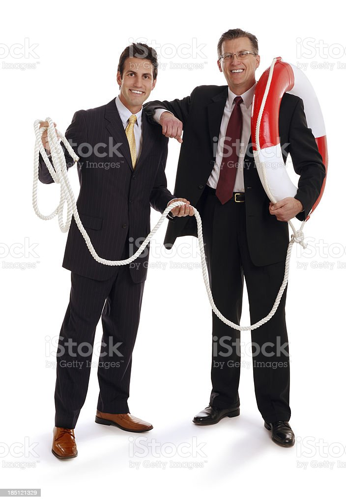 Business Men to the Rescue royalty-free stock photo