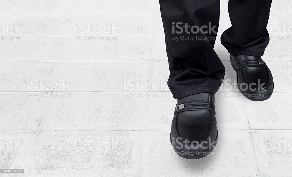 business men walk come in stock photo
