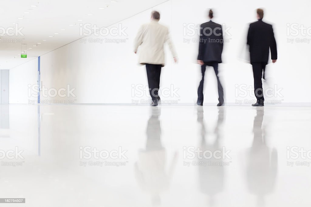 Business men walking royalty-free stock photo