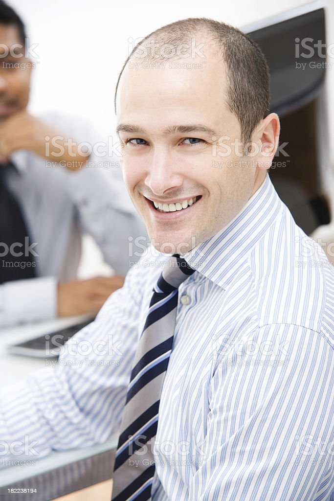 Business Men Working at a Desk royalty-free stock photo