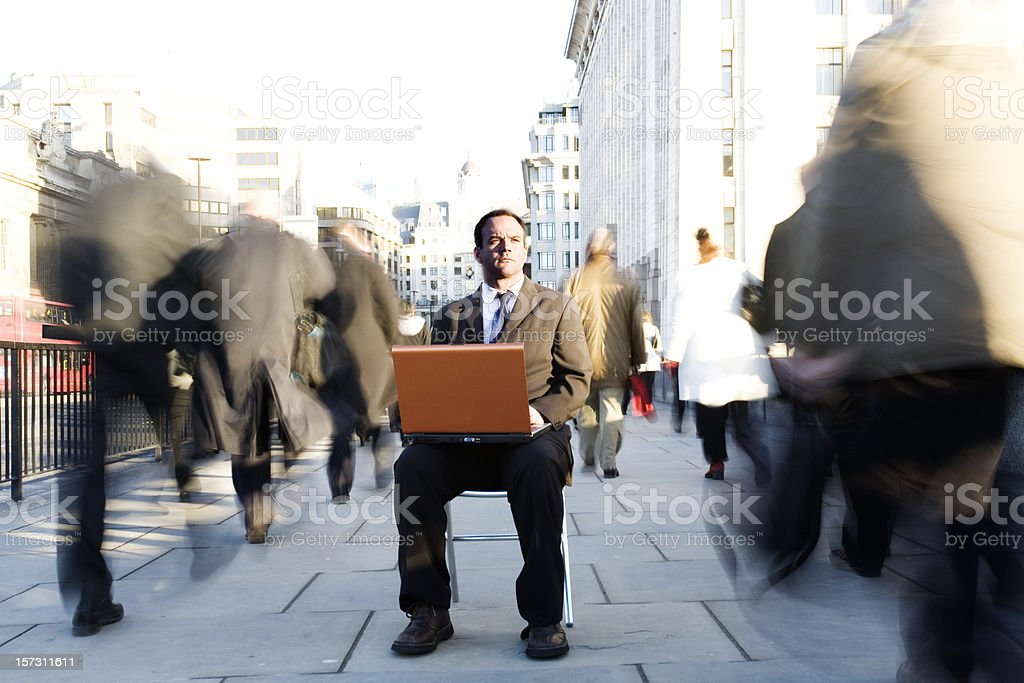 Business moment royalty-free stock photo