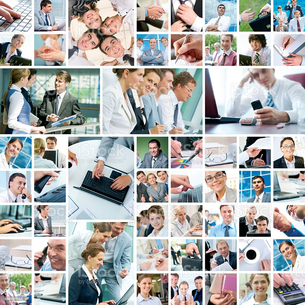 Business moments stock photo