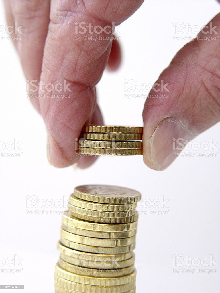 Business Money Stacking Up royalty-free stock photo