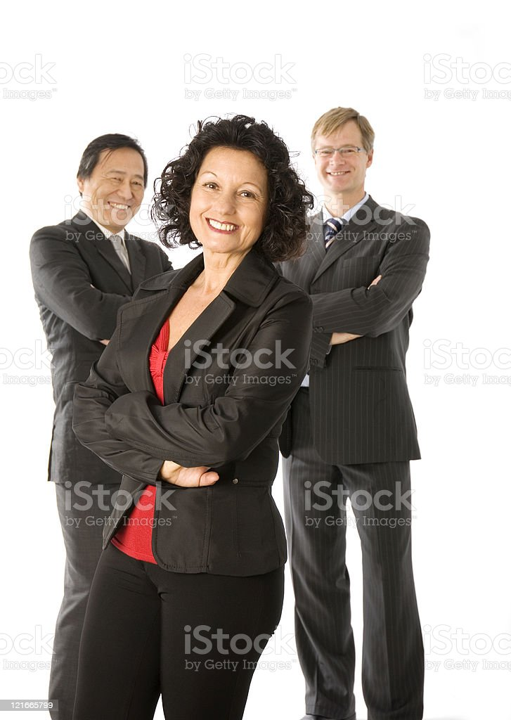 Business multi-racial team royalty-free stock photo