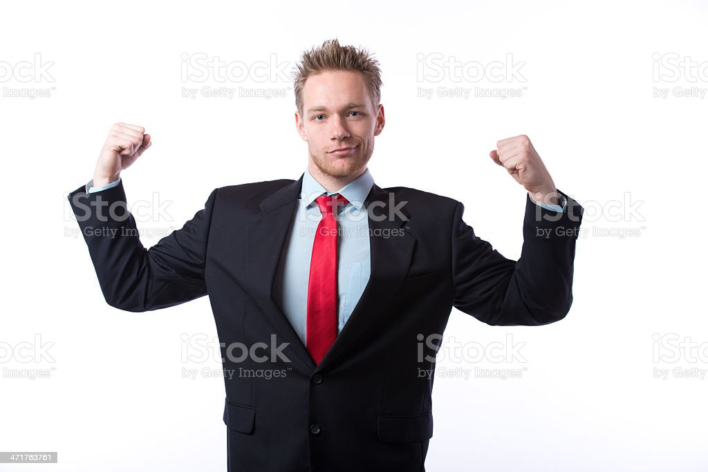 Business muscle royalty-free stock photo