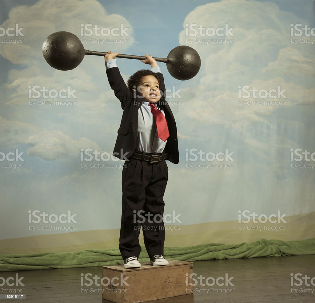 Business Muscle stock photo