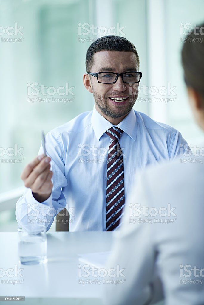 Business negotiations royalty-free stock photo