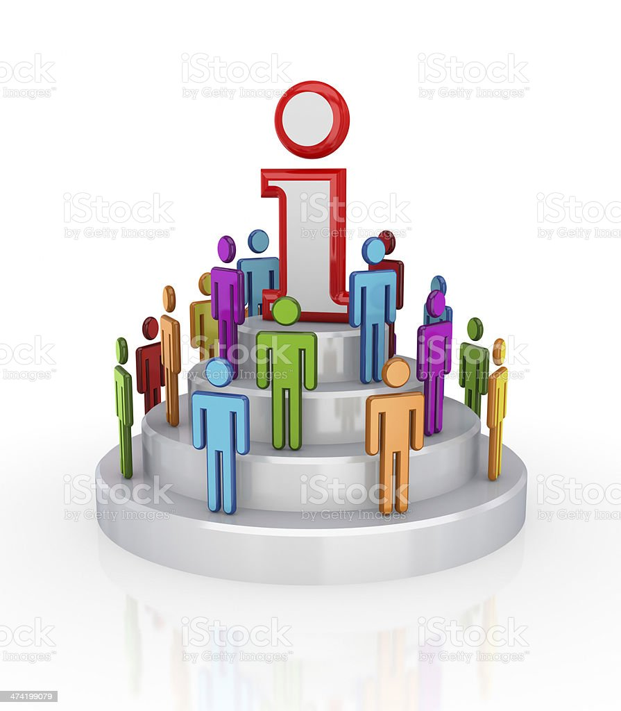 Business network concept. stock photo