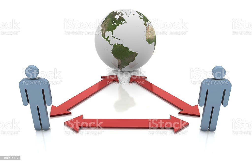 Business Network royalty-free stock photo