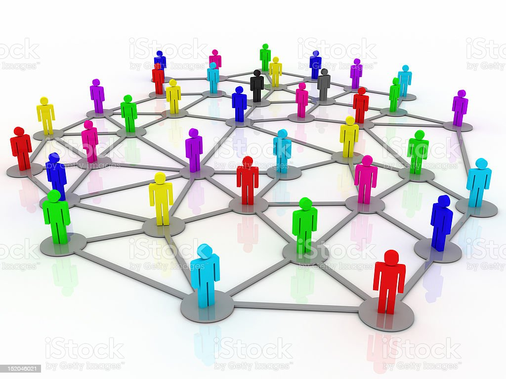 Business Network - Social Group royalty-free stock photo