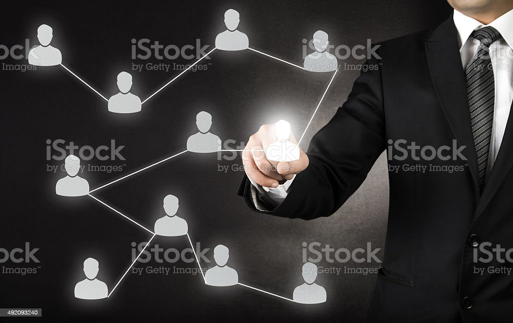 Business networking and acquaintances stock photo