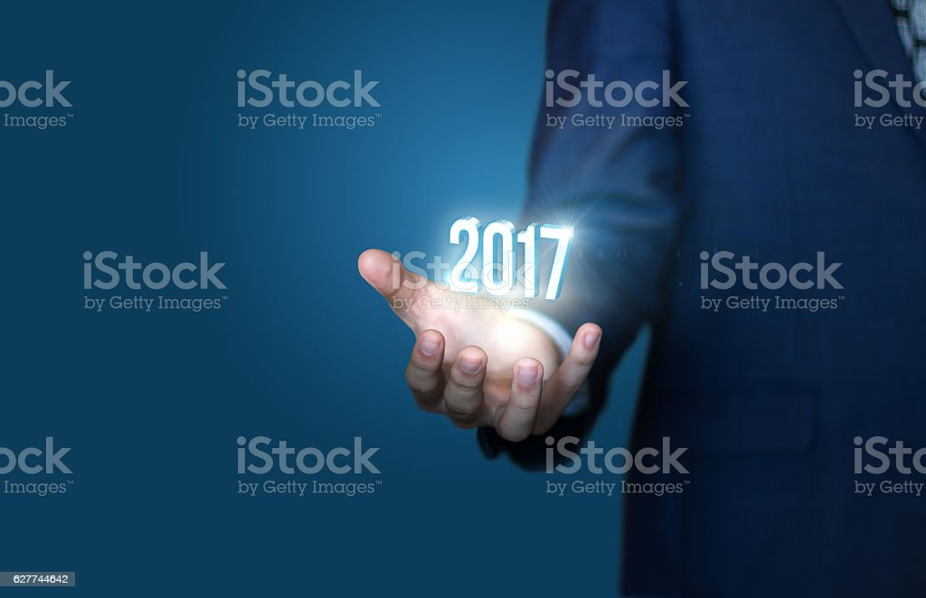 Business new year concept stock photo