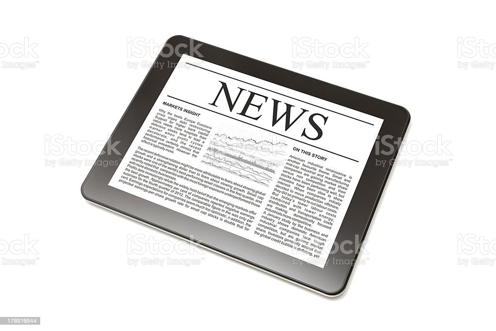 Business news on Tablet PC. royalty-free stock photo