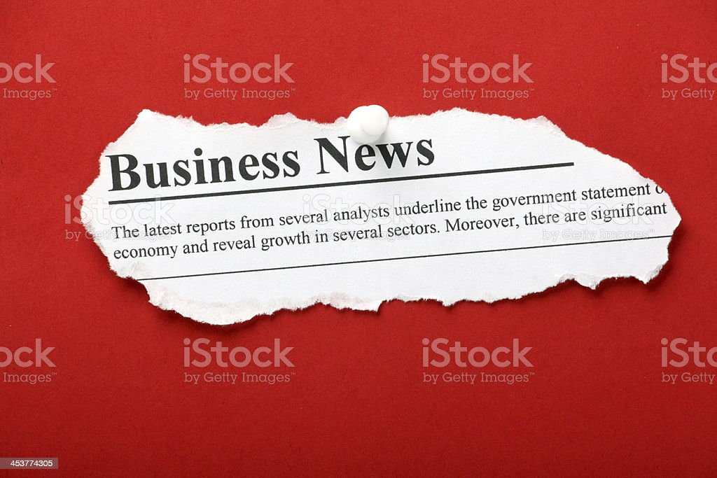 Business Newspaper Clipping stock photo