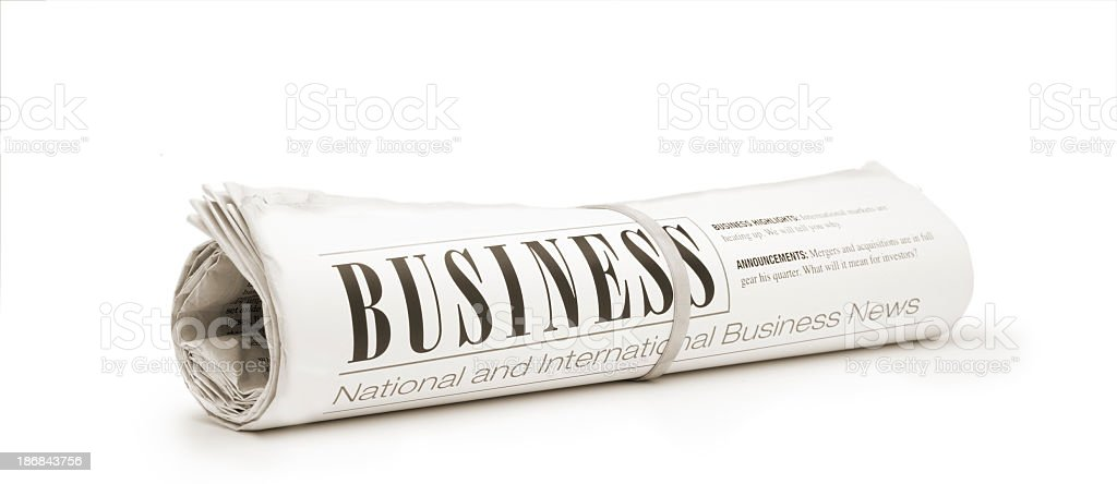 Business Newspaper stock photo