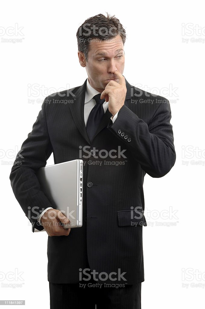 Business Nose Picker royalty-free stock photo