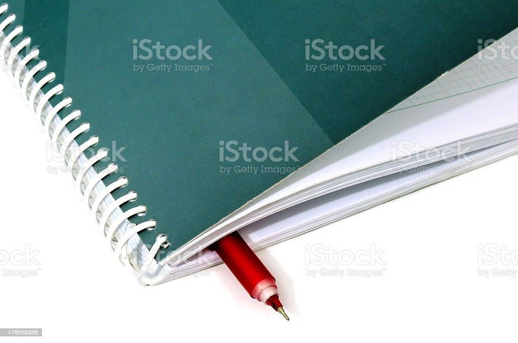 Bloc-notes avec stylo d'affaires photo libre de droits
