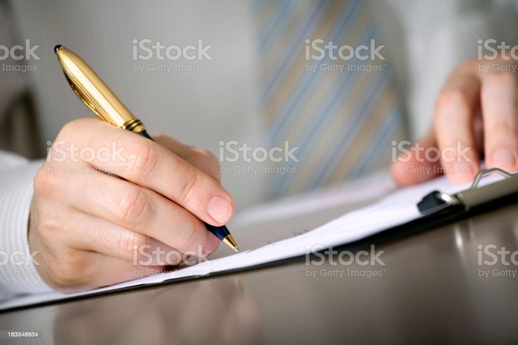 Business notes royalty-free stock photo