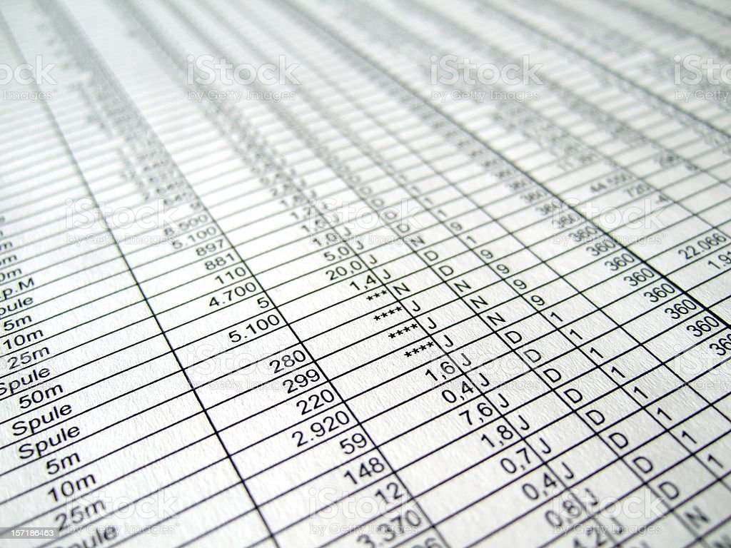 business numbers stock photo