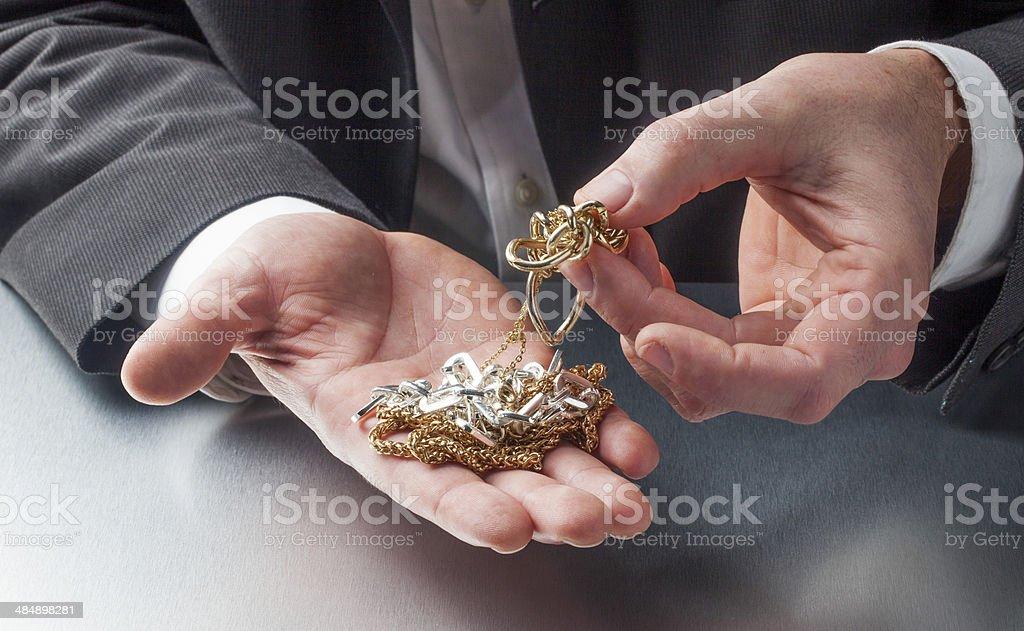 business of precious metals stock photo
