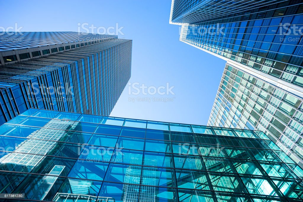 Business office building in London, England stock photo