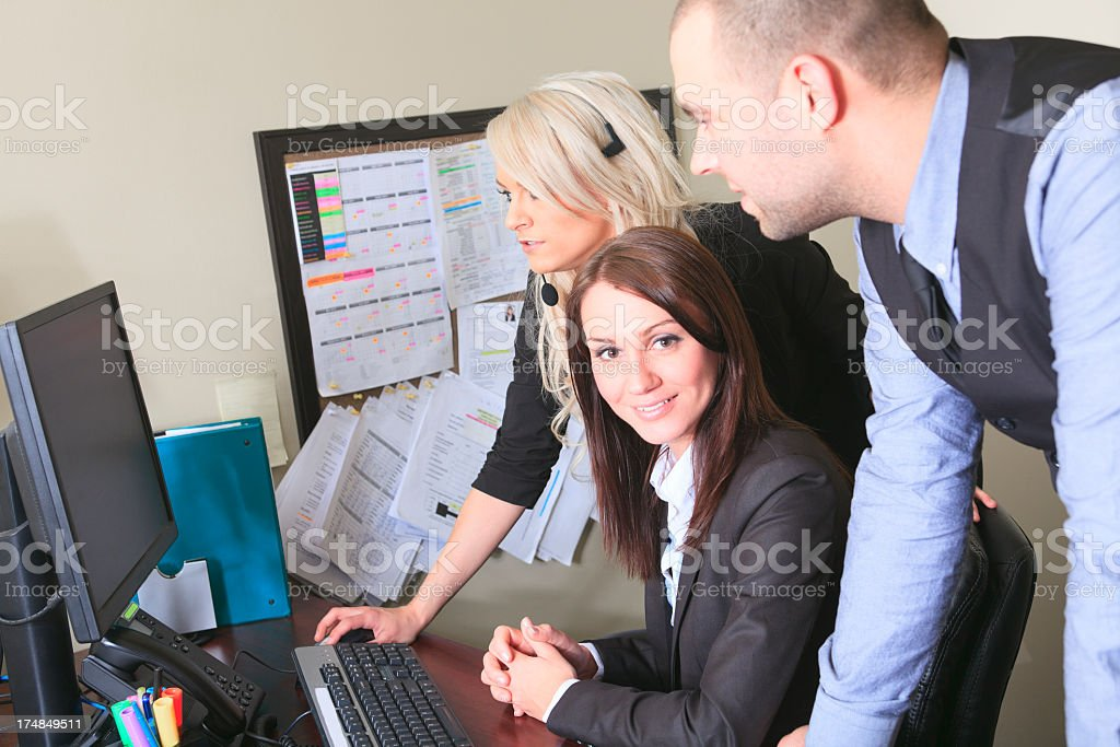 Business Office - Great Team royalty-free stock photo