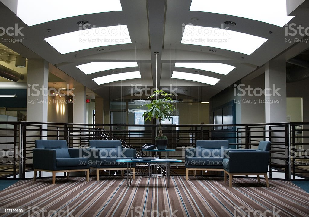 Business Office Interior Waiting Area, Empty, Copy Space royalty-free stock photo