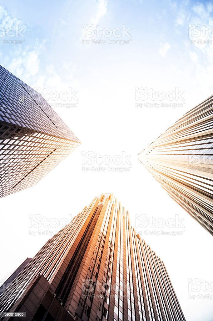 Business office skyscraper stock photo